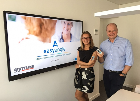 Marie Verougstraete van Gymna en Lars Franzén van Easyangle